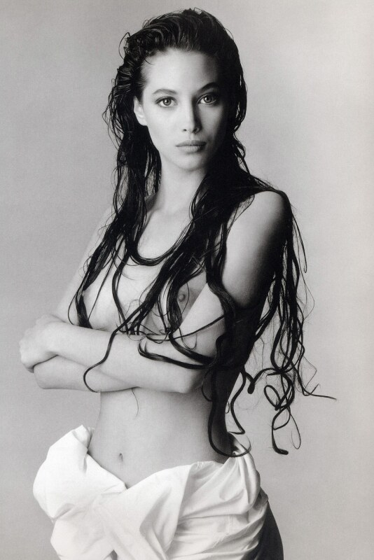 Christy Turlington Graphed By Richard Avedon